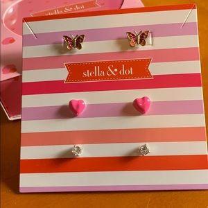 Stella dot mariposa trio earring set